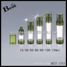 80мл круглые акриловые безвоздушного бутылки насоса PP; 50/60/100/120мл акриловые бутылки лосьона с губ, акриловые открывалка для бутылок