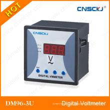 96 * 96 voltímetro CA trifásico LED Tensão de tensão do medidor digital Dm96-3u-1