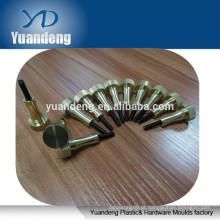 Custom Brass parafuso de polegar polido polido