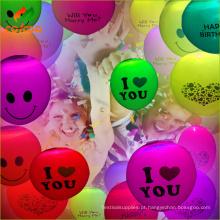 Látex de baixo preço casamento decoração balão Led com CE e ROHS