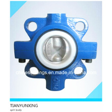 Wafer Butterfly Valve with Split Body Double Stem