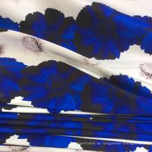 Polyester-Twill Printed Woven Kleidungsstoff für Kleid / Top / Jacke / Rock