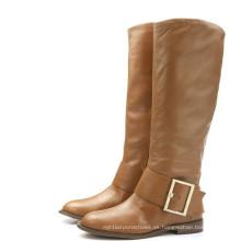 Nueva colección de botas de señora de cuero de moda (WZ-02)
