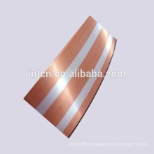 Two silver layers inlay copper bimetal strips