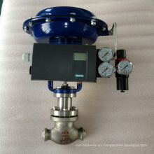 high quality v-type PTFE welded control valve with pneumatic
