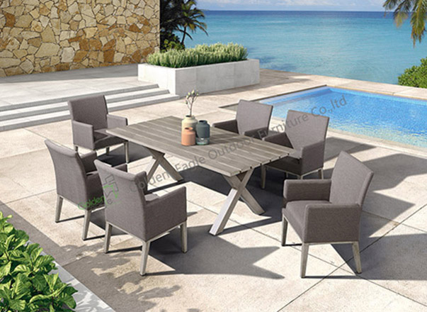 aluminium outside chair and table set