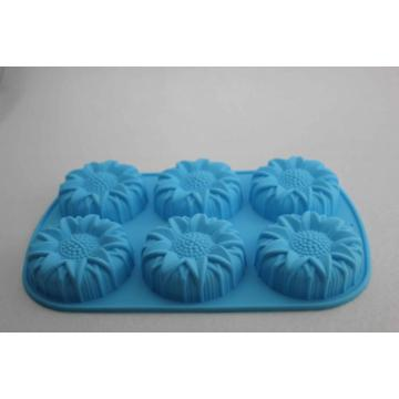 Blue Sunflower Cake Soap Silicone Mold