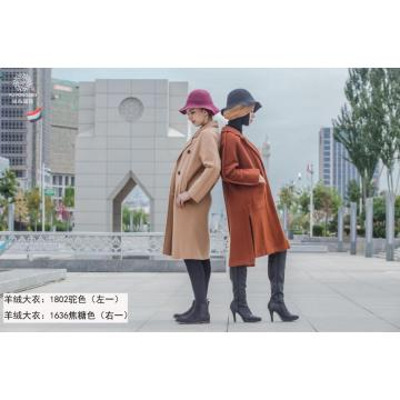 Long Wind resistance Camel Fashion coat