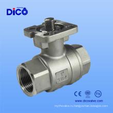 Нержавеющая сталь CE 2шт резьбы шариковый клапан с пусковой площадкой установки ISO5211