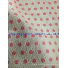 Polyester-Baumwolle print prägen seersucker