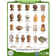 columnas interiores de madera