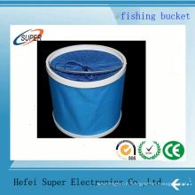 Seau de pêche pliable de l'eau de bâche de 11L