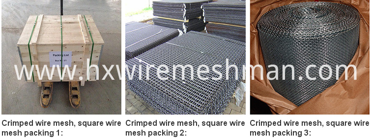 packing for crimped wire screen