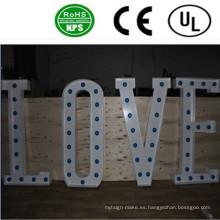 Alta calidad frente iluminado LED grandes signos de letra bulbo