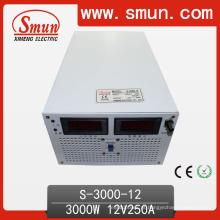 Fonte de alimentação de comutação de saída única de 3000W 12VDC (S-3000 com entrada selecionada)