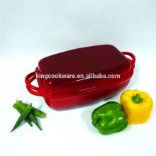 Plato rectangular de hierro fundido resistente al calor de alta calidad