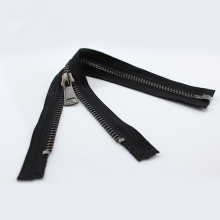 Gunmetal Color Brass Teeth Metal Zipper para roupa