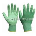 Нейлон трикотажные рабочие перчатки с гладкой нитрила покрытием (N1569C)