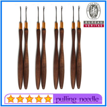 Wholesale Wooden Pulling Needles for Hair Extensions Hair Salon Use