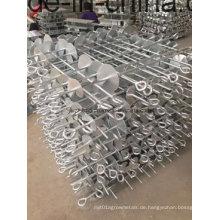 Hoch DIP Galvanisierter Erdanker, Stahlbodenanker