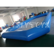 Blue Pvc Giant Inflatable Kiddie Pool Funny For Commercial Swim Center Entertainment