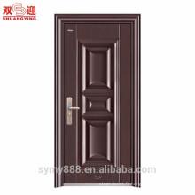 Porte simple en acier simple de conception de porte d'entrée de Chambre