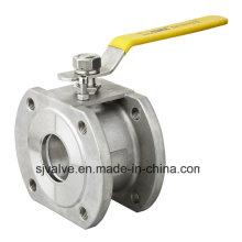 Válvula de esfera de aço Tipo Wafer Novo