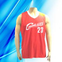 100% Polyester Man's Sleeveless Basketball tragen