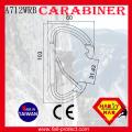 23KN CE Aluminum Rock Mountaineer Climbing D Type Carabiner