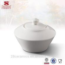 Maßgeschneiderte Porzellan Zucker Schüsseln, kleine Geschirr Zubehör für Großhandel