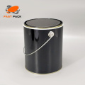 1 Gallon Black Metal Container For Paint