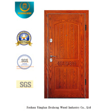 Simplified European Style Security Door with Carving (E-1007)
