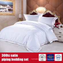 100%Cotton 300TC Satin EMB Bedding Set Hotel Grade Bed Linen