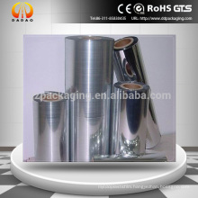 One side Corona Treated, one side heat sealable Metallized bopp film for snacks packging