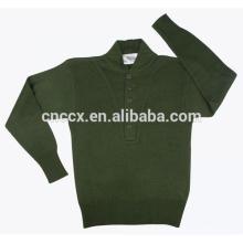 15JWA0112 hommes acrylique couleur unie pullover