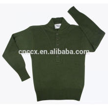 15JWA0112 men acrylic plain color pullover sweater