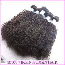 100% não transformados emaranhado livre mongol cabelo encaracolado tecer 7a