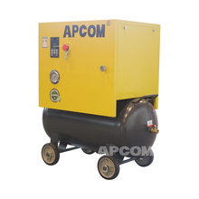 APCOM new technology 0.5m3/min 8bar 5.5 hp 4kw screw air compressor 220v with tank and dryer