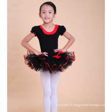 2015 nouveaux enfants danse vêtements tutu robe fille noir cygne ballet vêtements de danse