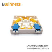 Fabrik-Versorgungsmaterial 2 Hafen-Minifaser-Optikfrontplatten-Einfaßungs-Verkleidung