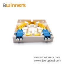 Factory Supply 2 Port Mini Fiber Optic Face Plate Socket Panel