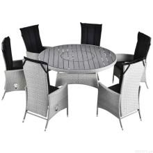 Jantar conjunto jardim vime mobiliário de vime ao ar livre