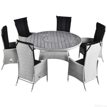 Outdoor Rattan Dining Set Patio Wicker Garden Furniture