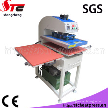 Máquina de transferencia de calor hidráulica automática para la materia textil
