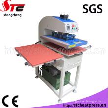 Máquina de transferência de calor hidráulica automática para têxteis