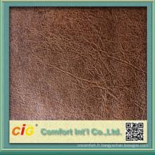 Fournisseur de la Chine de tissu de daim d'éléphant pour le sofa