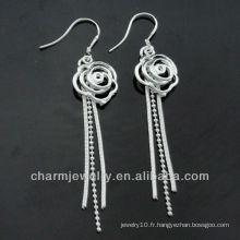 Wholesale Mixed Styles Fashion 925 Silver Cute Ladies Dangle Boucles d'oreilles ESA-009