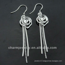 Wholesale Mixed Styles Fashion 925 Silver Cute Ladies Dangle Earrings ESA-009