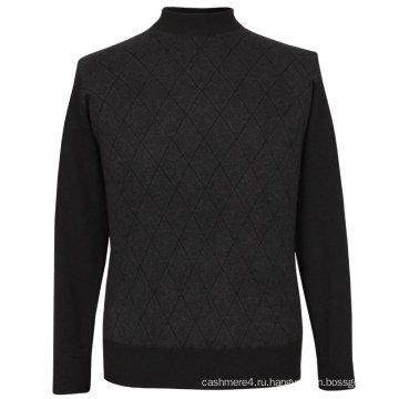 Bn0033ab Як и соевое волокно и Тенсел Смесовой вязаный Мужской пуловер