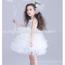 Bébé fille robe de mariée nouvelle conception robe de bal performance 3 ans fille robe